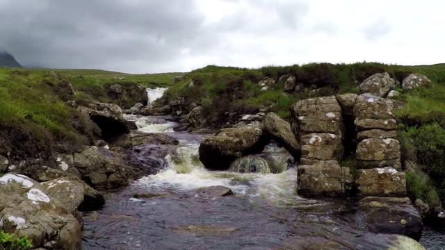 Wild river on the Isle of Skye, Scotland, HD video