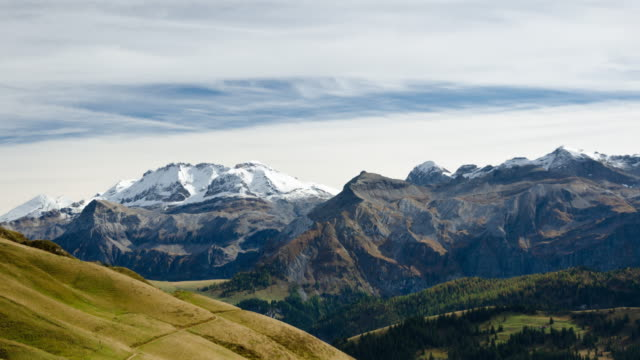 Wildstrubel and Lenk valley in Bernese Oberland time lapse video