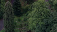 Wilhelmshohe Park  - Aerial View - Hesse,  Germany video