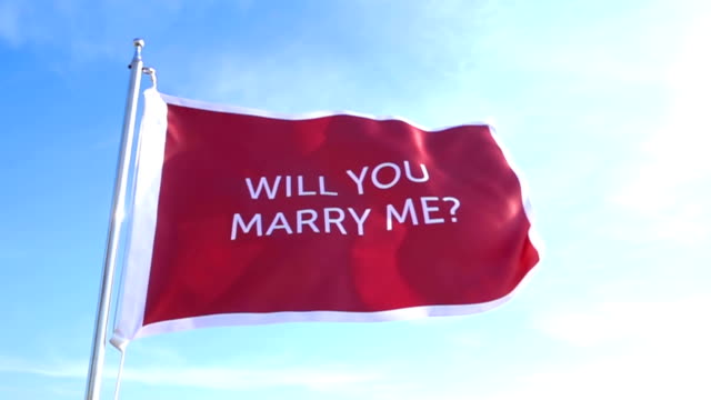 Will You Marry Me Flag video
