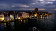 Willemstad, Curacao at night video