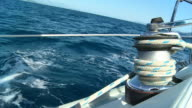 HD SLOW MOTION: Winch On The Deck Of Sailboat video
