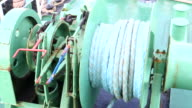 Winch with rope on the ferry video