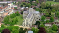 Winchester Cathedral  - Aerial View - England,  Hampshire,  Winchester District,  United Kingdom video