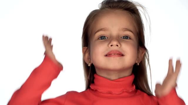 Wind blows girl's hair video