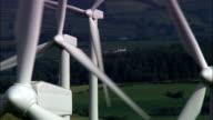 Wind Farm At Trefenter  - Aerial View - Wales, Ceredigion, Llangwyryfon, United Kingdom video