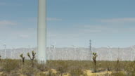 Wind Farm in California Desert video