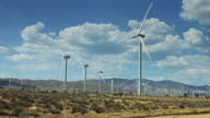 Wind Farm in Desert Valley video