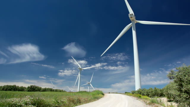 Wind power and blue sky video