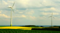 Wind power generators. video