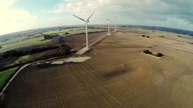 Wind power turbines in Denmark video