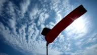 wind sock and cloud background video