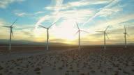 Wind Turbine Aerial video