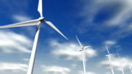 Wind turbine and clouds video