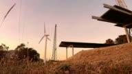 Wind turbine and Solar panel video