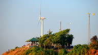 Wind turbine at viewpoint video