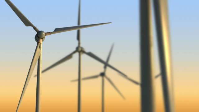 Wind turbine Background video