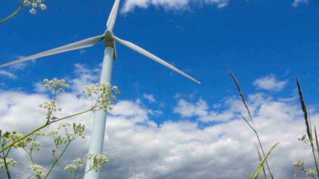 Wind Turbine from beneath video