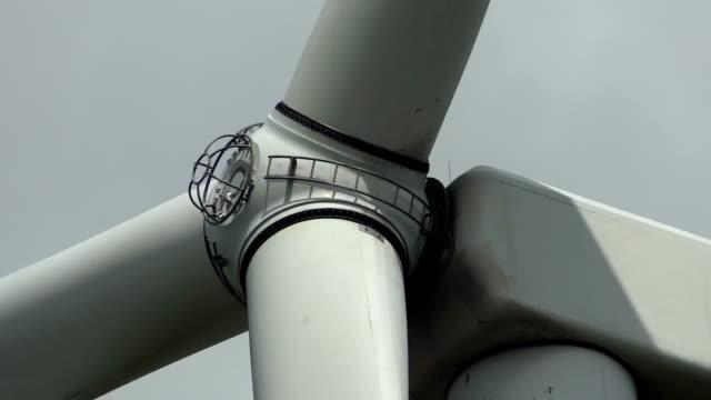 Wind turbine generator hub rotating video