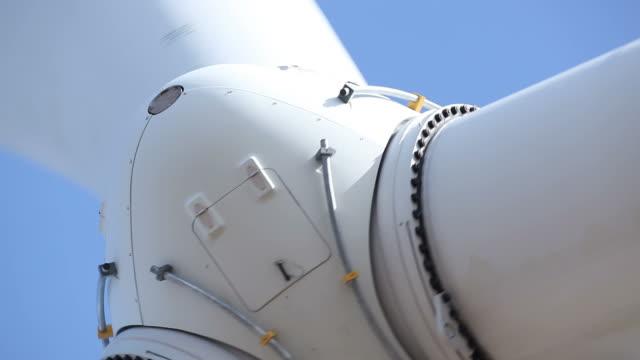 Wind Turbine Hub Closeup Detail video