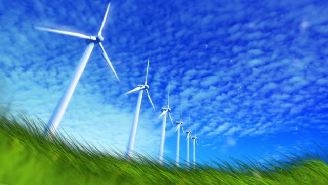Wind turbine in field video