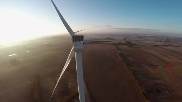 Wind turbine in Scandinavia video