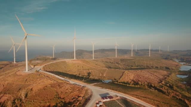 Wind Turbine on a mountain range video