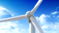 Wind turbine sninning video
