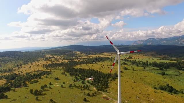 AERIAL Wind turbine video