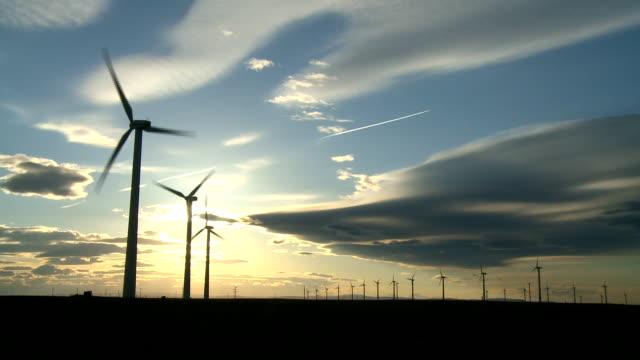 Wind Turbines and Sun video
