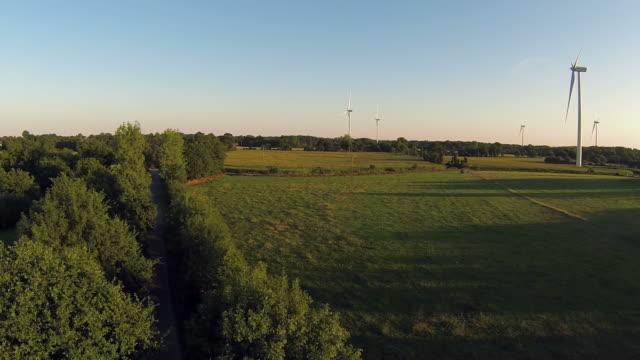 Wind Turbines At Dusk video