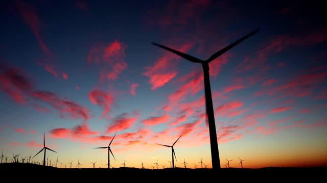 Wind Turbines at Sunrise video