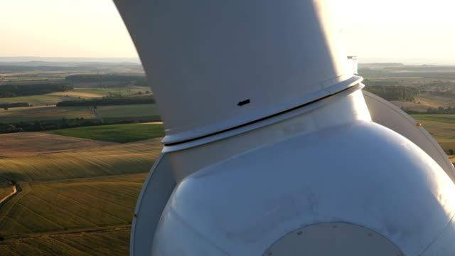 Wind turbines create renewable energy in Germany. video