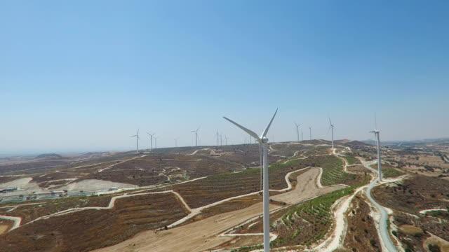 Wind Turbines Generating Electricity video