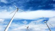 Wind turbines, green energy. video