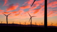 Wind Turbines in the Desert video