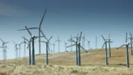 Wind Turbines on Parched Hillside video