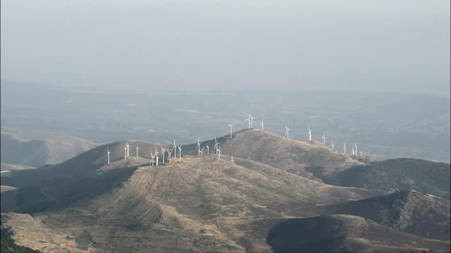 Windfarm - Aerial View - Aragon, Saragossa, Mesones de Isuela, Spain video