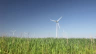 Windfarm in The Netherlands producing alternative energy video