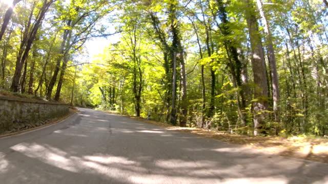 winding mountain road, GoPro video