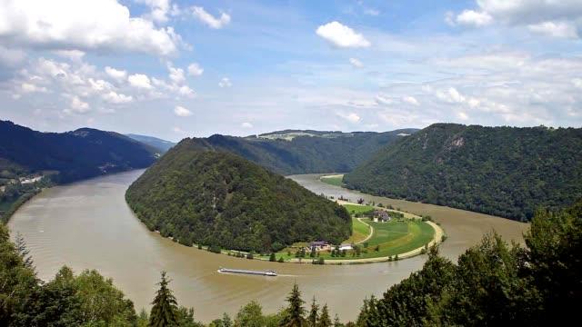 Winding of the Danube river - Austria video