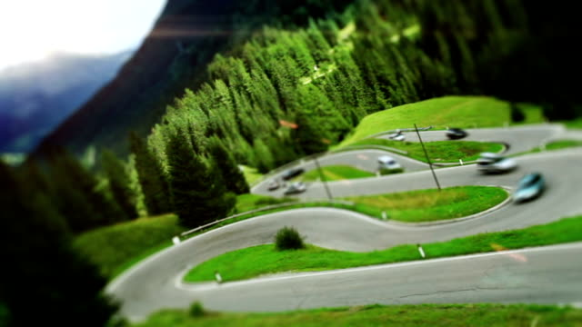Winding road in a mountains video