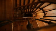 Winding Spiral Wooden Staircase Dezoom video