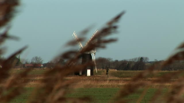 Windmill in England countryside video