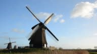Windmill turning and stopping video