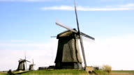 Windmills landscape in Holland video