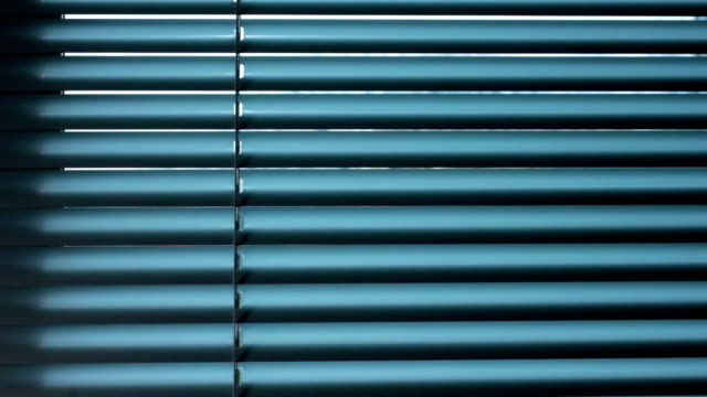 Window blinds opening video