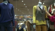 HD DOLLY: Window Dresser Dressing The Mannequin video