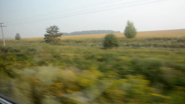 Window view from a moving train video