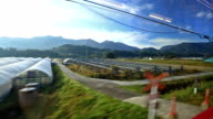 Window view from Beppu to Yufuin by japan train video